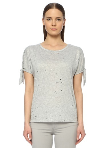 NetWork Kadın 1073284 Basic Fit Basic T-shirt Gri